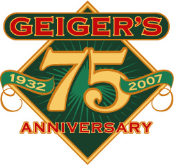 Geiger's 75th anniversary logo