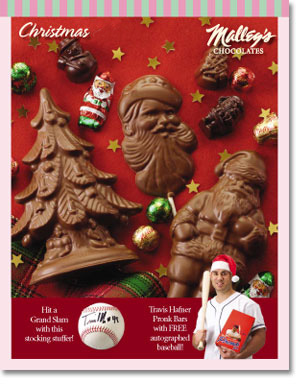 Malley's Chocolate Christmas fundraising catalog design